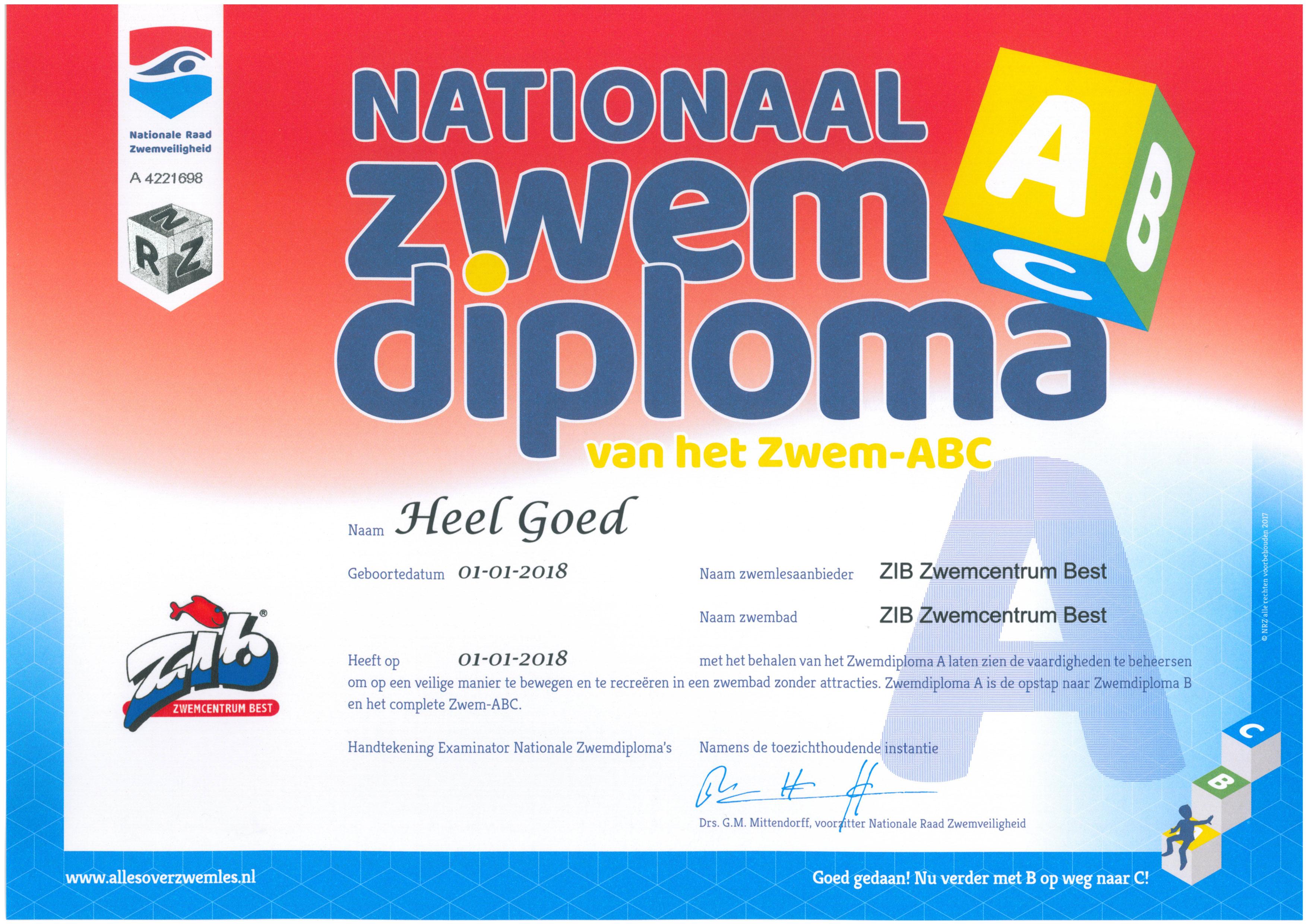 Exameneisen Zwem Abc Zib Zwemcentrum Best